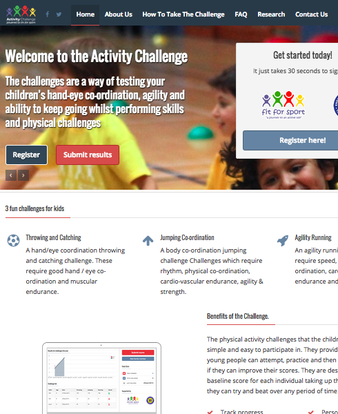 Activity Challenge Fit For Sport